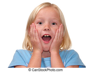 Surprised Girl - Surprised expression on a nine year old...