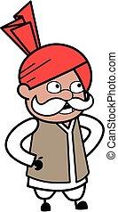 Surprised Haryanvi Old Man Cartoon Talking