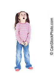 Surprised little girl