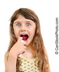 Little Girl with Inhaler