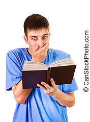 Surprised Man with a Book