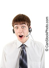 Surprised Man with Headset