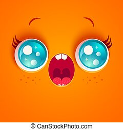 surprised orange face.