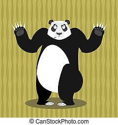 Surprised panda OOPS. Perplexed Chinese bear. Struck by a ...
