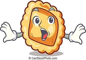 Surprised ravioli isolated with in the character