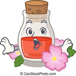 Surprised rose seed oil the cartoon shape