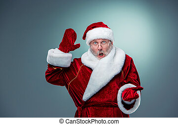 Surprised Santa Claus - Wondering Santa Claus in glasses...