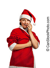 Surprised Santa helper