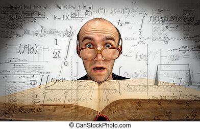 Surprised scientific mathematician
