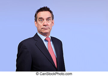 Surprised Shocked Business Man