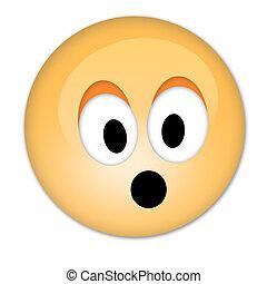 Surprised smiley- emoticon