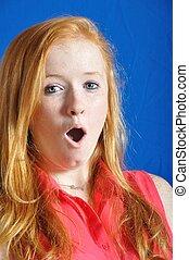 Surprised teen