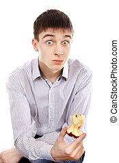 Surprised Teenager with an Apple - Surprised Teenager ...