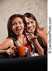 Surprised Women Laughing