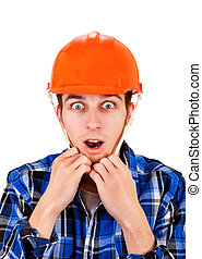 Young Man in Hard Hat