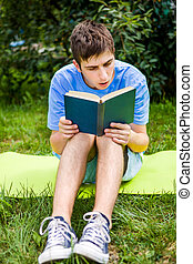 Young Man read a Book