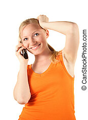 Surprising Call - A young handsome woman gets a surprising...