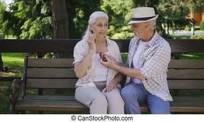 Surprising marriage proposal of senior couple - Handsome...