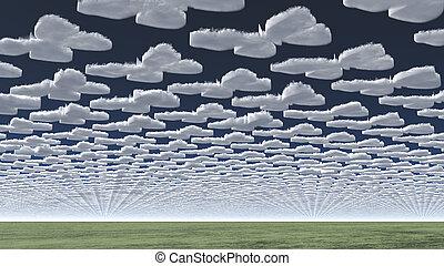 surréaliste, nuages
