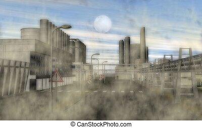 surreal, área industrial