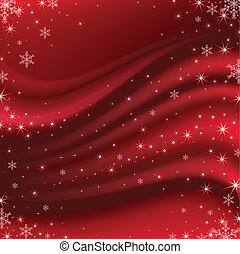 Beautiful vector satin abstract background in red.