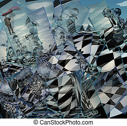 Surreal Chess Landscape