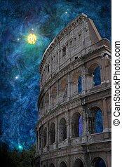 surreal, coliseum romano