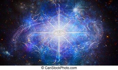 Eternal Eye in Endless Space - Surreal composition. Eternal ...