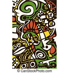 surreal, diseño abstracto, mosaico, texture.