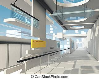 Surreal futuristic architecture
