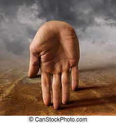 surreal hand - surreal male hand