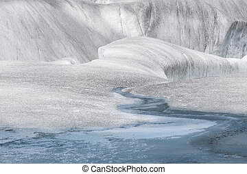 Surreal Landscape At Mendenhall Glacier, Juneau, Alaska