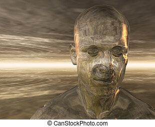 Surreal Man - Digital Illustration of a surreal Man
