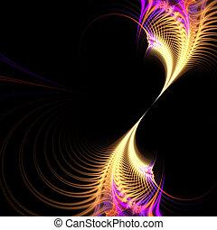 Surreal Purple Fractal Vortex