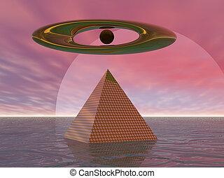 Surreal Pyramid - Surreal pyramid before moon