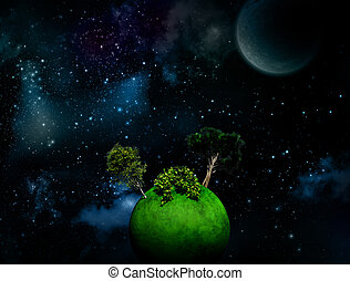 Surreal Space background