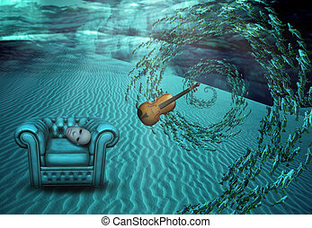 Surreal Underwater Scene