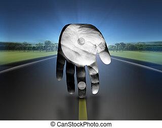 Surreal - Yin Yang Hand