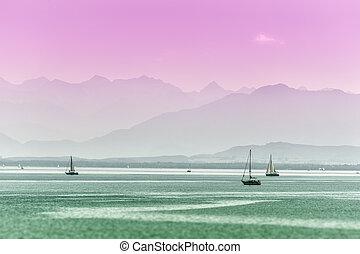 surreale, lago, tutzing, vista