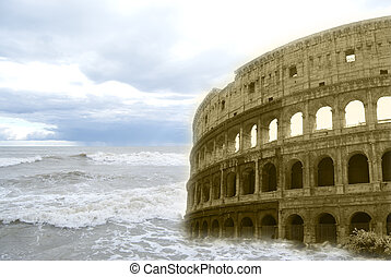 Surrealism. The Colosseum - Surrealism A photomontage of the...