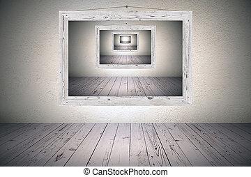 surrealistic picture frame - surrealistic optical illusion...