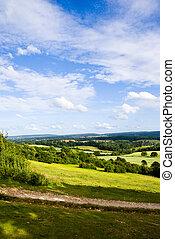 Surrey Hills - View over Surrey Hills, England, UK. July...