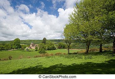 surrey, platteland, wotton