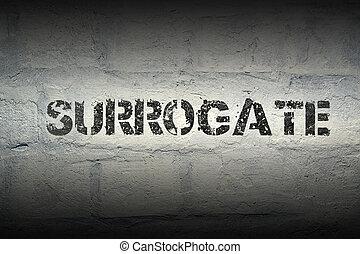 surrogate, gr , λέξη