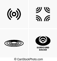 Surround sound symbols