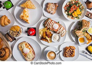 surtido, platos, europeo, cuisine.