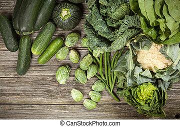 surtido, verduras verdes