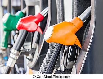 surtidor de gasolina, relleno