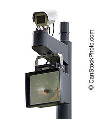Surveillance cam - Public surveillance camera near the entry...