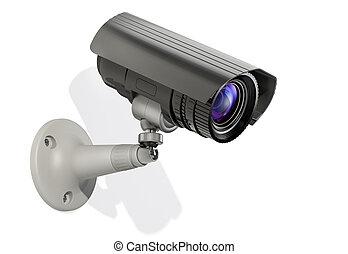 surveillance camera, 3d
